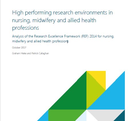 High performing research environments in nursing, midwifery and allied health professions